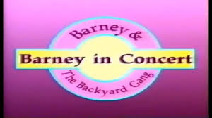 barney u0026 the backyard gang barney in concert custom theme barney