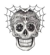 art skull day of the dead stock illustration image of demon