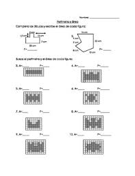 3rd grade area and perimeter worksheet in spanish by criss forshay