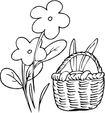 easter bunny baskets easter bunny coloring pages kids