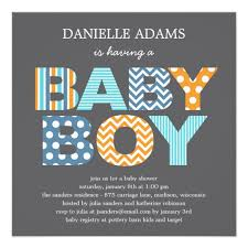 baby shower invites for boy cutout letters baby shower invitation boy zazzle