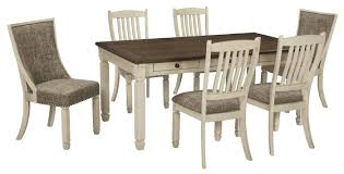 7 pc dining room set bolanburg dining room set schleider furniture and mattress
