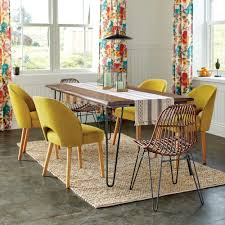 World Market Dining Room Table by Rattan Flynn Hairpin Dining Chairs With Rustic Legs Set Of 2
