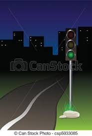 Traffic Light Clipart Clipart Vector Of Traffic Light Near The Road Csp5933085 Search