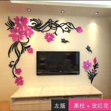 home decor 3d stickers 3d wall stickers home decor big rose tree crystal wall sticker