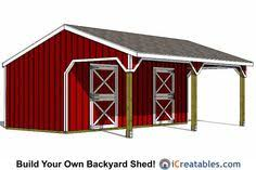 Small Barn Plans Small 2 Stall Horse Barn Small Barns Horse Related Pinterest