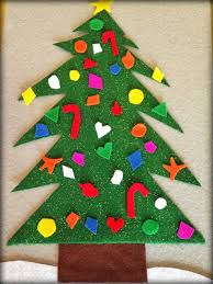 christmas craft for kids felt christmas tree with ornaments
