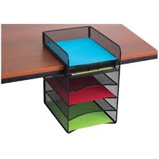 Safco Desk Organizers Safco Onyx Hanging Desk Organizers Blick Materials