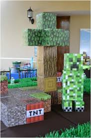 How To Make Decorations In Minecraft Boy U0027s Minecraft Themed 9th Birthday Party Minecraft Minecraft