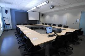 Small Conference Room Design Small Office Meeting Room Design With Rounded Dark Brown Wooden