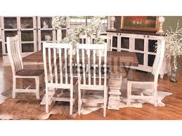 Solid Wood Dining Room Sets Mes2 White Solid Wood Table And 6 Chairs Miskelly Furniture