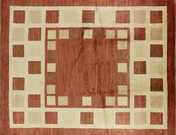 8x10 Red Area Rug New Persian Kashkuli Gabbeh 8x10 Rust Red Ivory Wool Hand Knotted