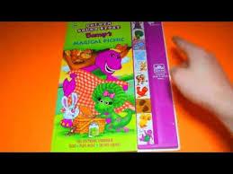 barney u0027s magical picnic golden sound story sound books fun toys