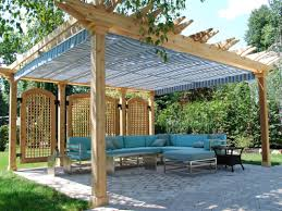 Patio Awning Ideas Affordable The Gennius Pergola With Furniture