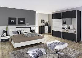 chambre adulte contemporaine chêne clair gris métallique bagossa