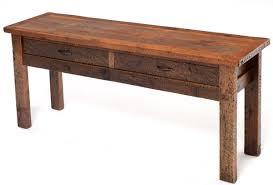 Sofa Table With Drawers Distressed Barnwood Sofa Table Aged Barn Wood Sofa Table