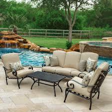 Sunbrella Patio Furniture Sets - elysian 4 piece patio conversation set w sofa u0026 sunbrella canvas