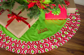 personalized tree skirt decor