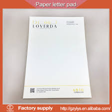 sale gold foil custom business letter pad design buy