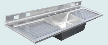 stainless sink with drainboard handmade stainless sink with backsplash 2 drainboards by in kitchen