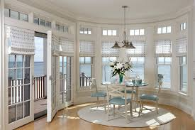 Dining Room Bay Window Treatments - window treatments for patio doors dining room tropical with