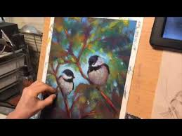 watercolor tutorial chickadee chickadee love a pastel painting tutorial youtube
