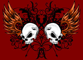 colored skull design by that one on deviantart