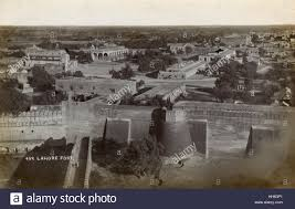 fort lahore with a general view of part of the city lahore