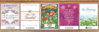 wedding seed packets a wildflower wedding