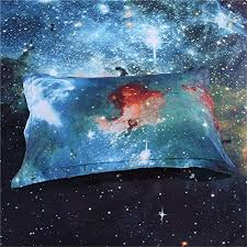 Duvet Cover Stars 3d Mysterious Boundless Galaxy Twinkling Stars Kisslife Bedding