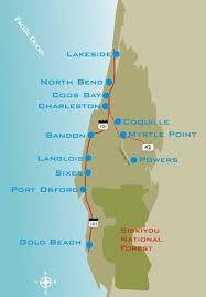 map of oregon lighthouses bandon area information oregon coast loop realty