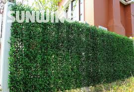 1x1m decorative garden fence panel artificial green boxwood