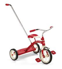 classic amazon com radio flyer classic tricycle with push handle red