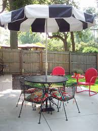 furniture black and white patio umbrellas walmart with pavers