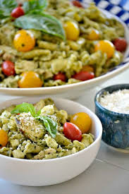 chicken pasta salad pesto chicken pasta salad