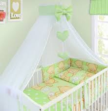 Nursery Cot Bed Sets by 8 Pcs Baby Bedding Set Bumper Canopy Holder To Fit Cot Bed 140 X