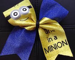 minion ribbon minion cheer bow etsy