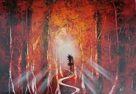 Red Paint by Amazing Spray Paint Art Red Forest Made By Street Artist Youtube