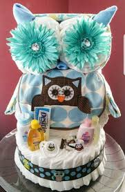 owl diaper cake baby boy creative baby cakes by kelly diaper