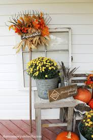 how to create your own diy fall rake décor for the front porch