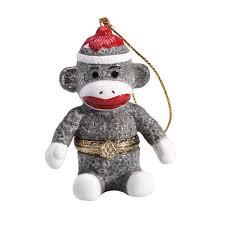 porcelain secret compartment sock monkey ornament