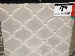Fog Arabesque Tile From Home Depot Potential Backsplash - Home depot tile backsplash