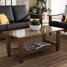 baxton studio dauphine coffee table baxton studio pierce medium brown wood finished coffee table 28862