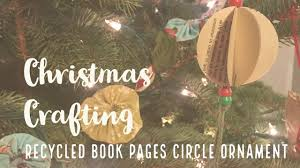 how to make a recycled book pages circle ornament tutorial