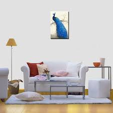 living room prints framed canvas art prints living room blue peacock wall art canvas