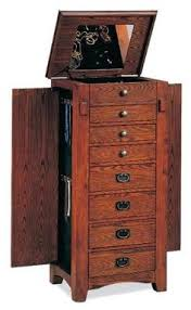 jewelry armoire oak finish mission jewelry armoire woodworking pinterest armoires