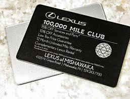 lexus card custom cards and customer cards plastic printers inc