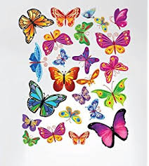 Butterfly Kitchen Decor Amazon Com Easy Instant Home Decor Wall Sticker Decal Vivid
