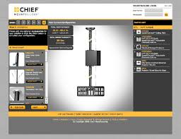 chief wall mounts chief launches mountbuilder the industry u0027s first online
