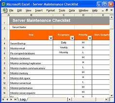 100 maintenance schedule template excel sample checklist